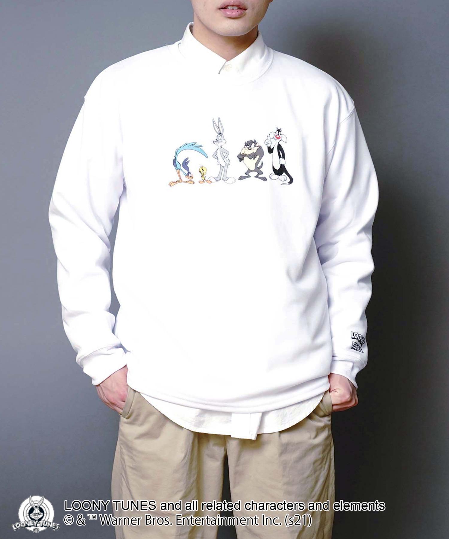 【ルーニー・チューンズ】 キャラクターポンチTトレーナー ロンT ワンポイント刺繍 ユニセックス