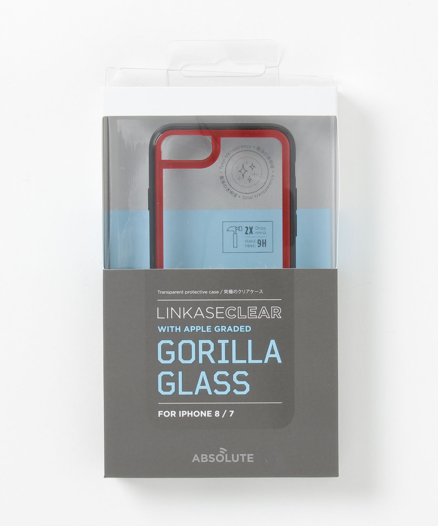 ABSOLUTE technology - LINKASE CLEAR / Gorilla Glass for iPhone 8/7
