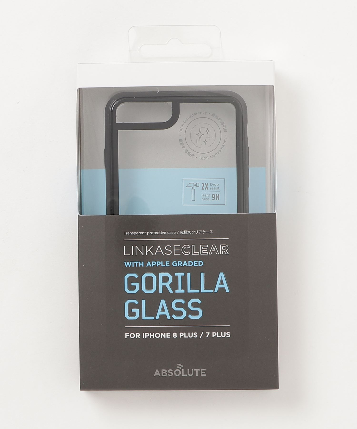ABSOLUTE technology - LINKASE CLEAR / Gorilla Glass for iPhone 8Plus/7Plus
