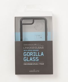 "ABSOLUTE TECHNOLOGY / ""LINKASE CLEAR"" Gorilla Glass for iPhone 8Plus/7Plus"
