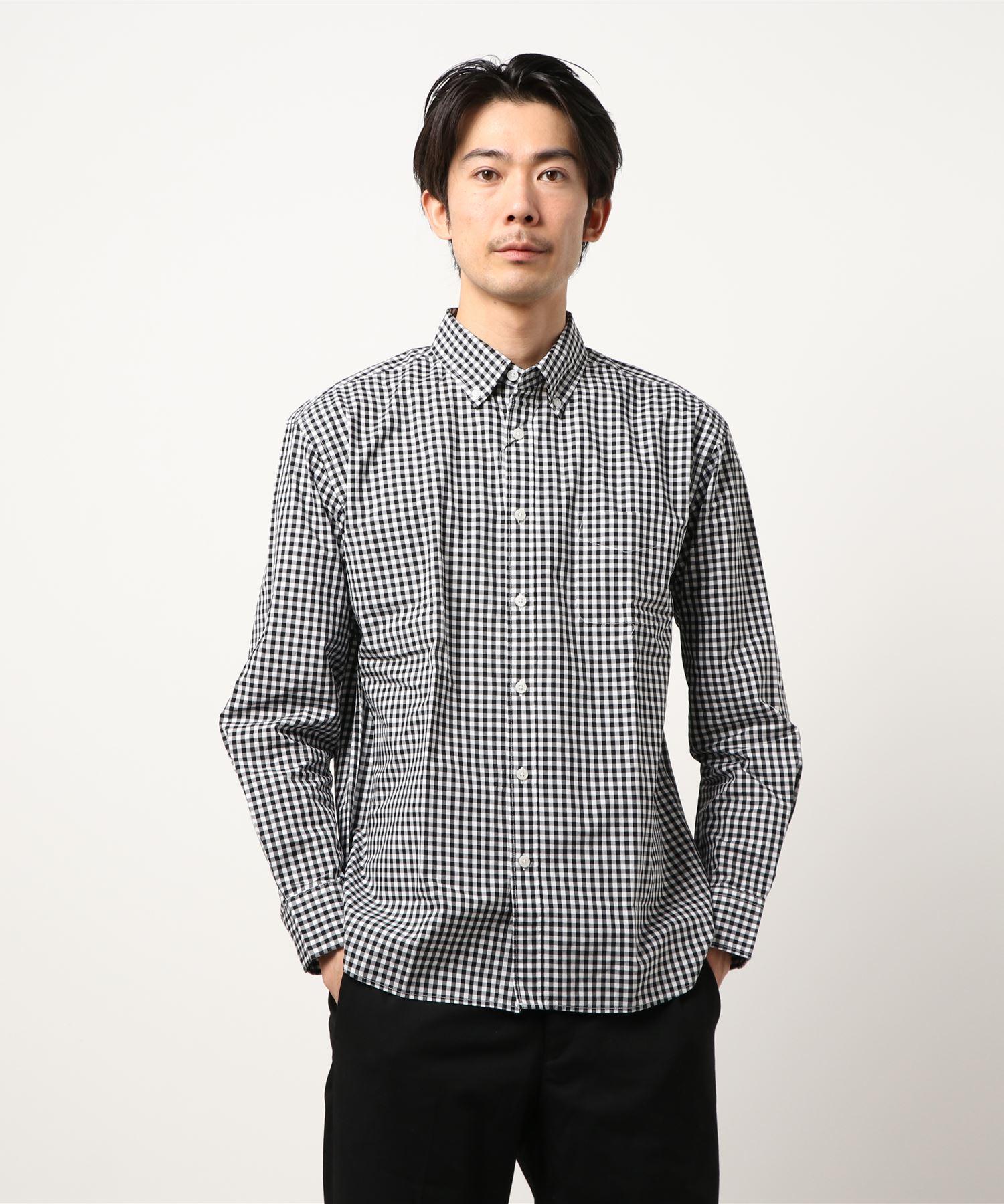 リラックスギンガムチェックシャツ 長袖 ボタンダウン オーバーサイズ/ビッグシルエット