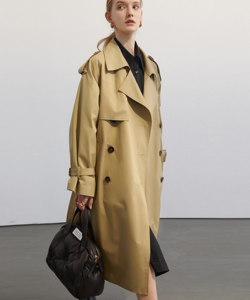 【Fano Studios】【2021SS 先行予約】Oversized double breasted trench coat cb-3 FC21W020