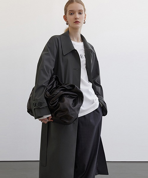 【Fano Studios】【2021SS】Raglan sleeve belted bal collar coat cb-3 FC21W019