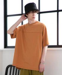 【WEB限定】FEELING MADE ブラッシュドコットン バックプリント フットボールTシャツ