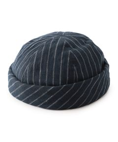 "LOCK & CO HATTERS / ""DOVER WATCH CAP NAVY STRIPE"" リネンニットキャップ"