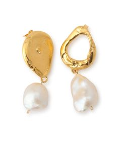 "alighieri ""The Infernal Storm"" Pearl Pierced earrings"
