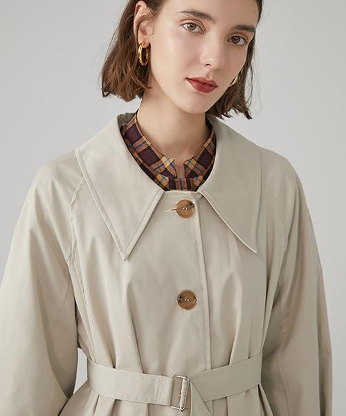 【Fano Studios】【2021SS】Drop neck Bal collar coat cb-3 FC19WN061