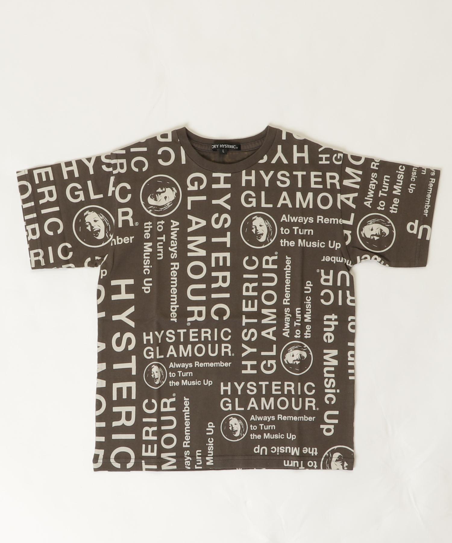 CIRCLE HEAD総柄 Tシャツ【L】