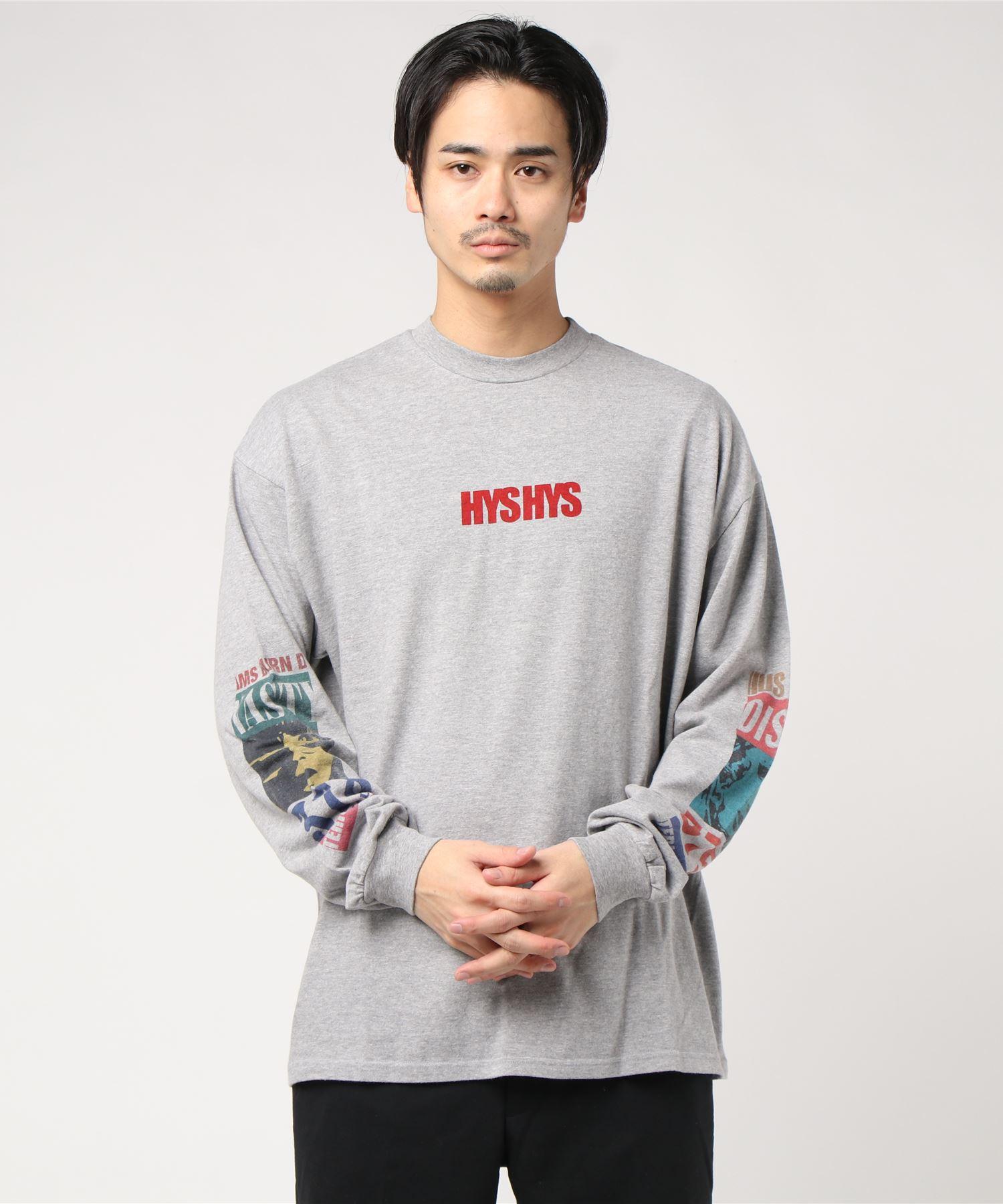 HYS HYS リブ付Tシャツ