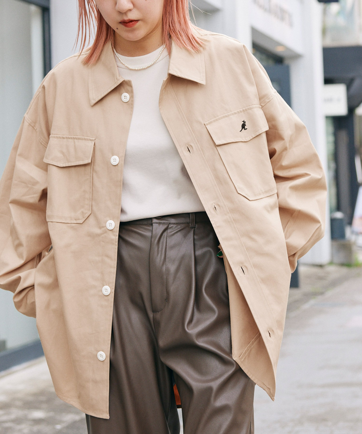 KANGOL/カンゴール 別注 オーバーサイズ ツイル CPO シャツ シャツジャケット/2020SPRING