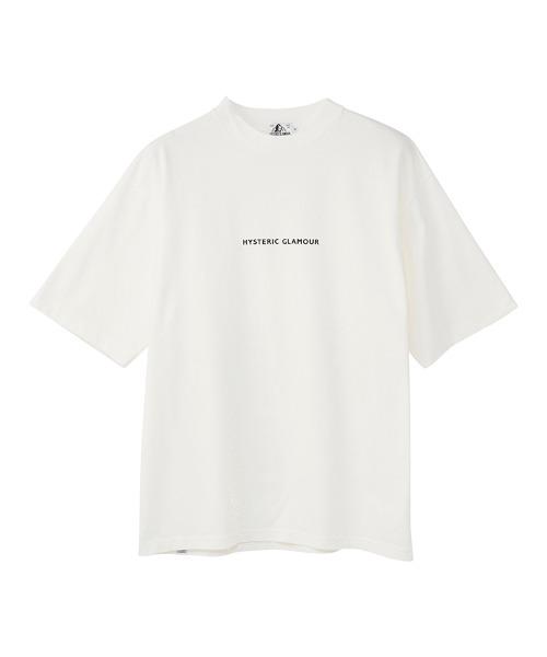 HYS LOGOモックネック オーバーサイズTシャツ