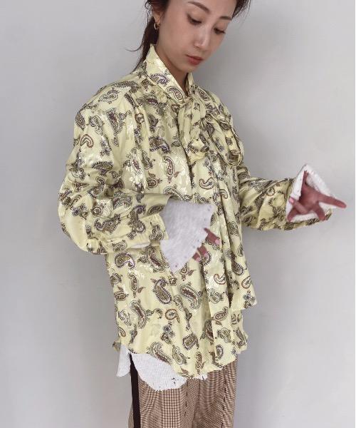 【SANSeLF】 paisley pattern blouse sanw28
