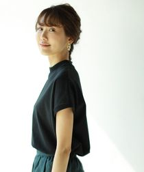 【WEB限定ネイビー復刻】USAコットンハイネックTシャツ