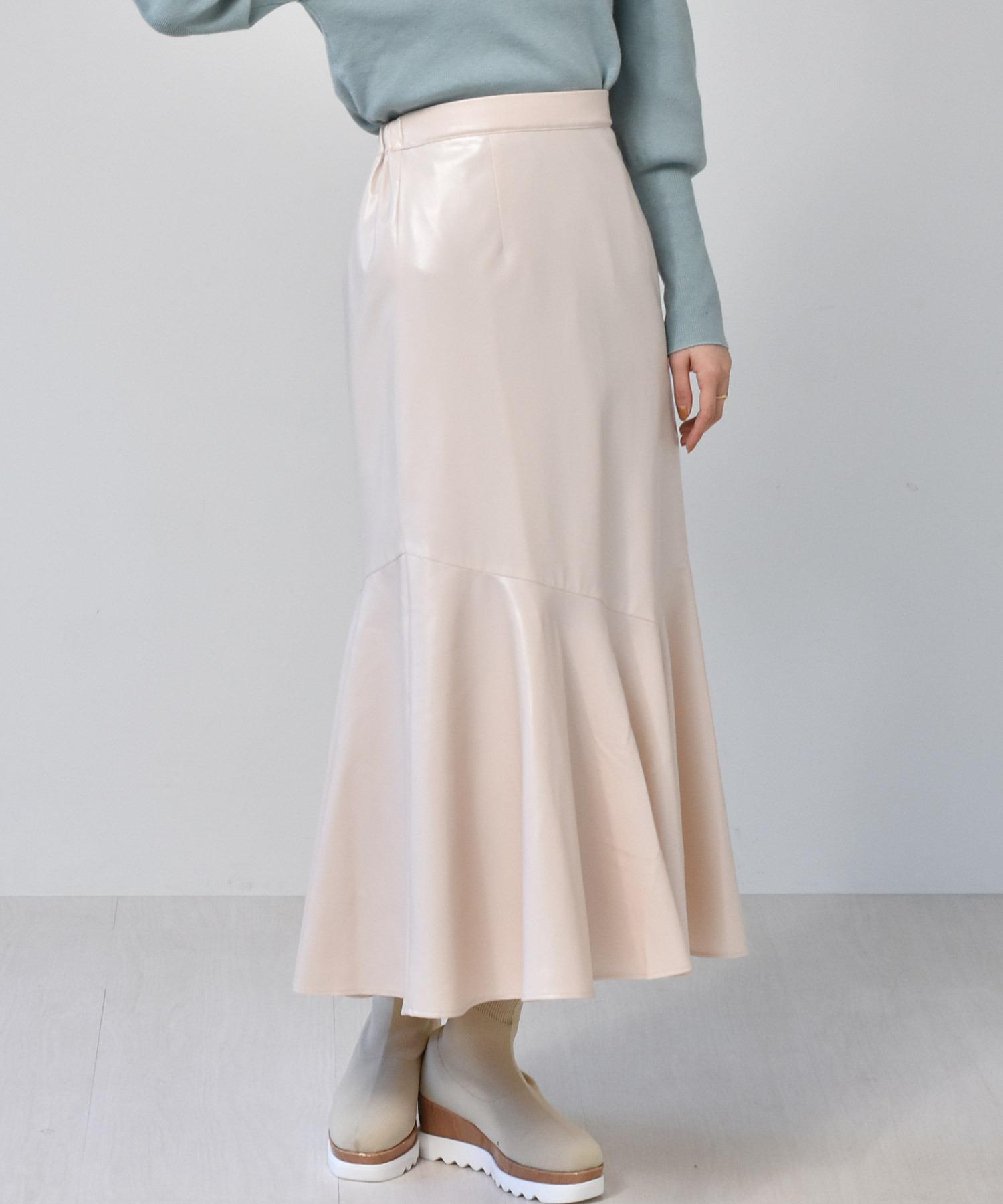 レザーマーメイドスカート