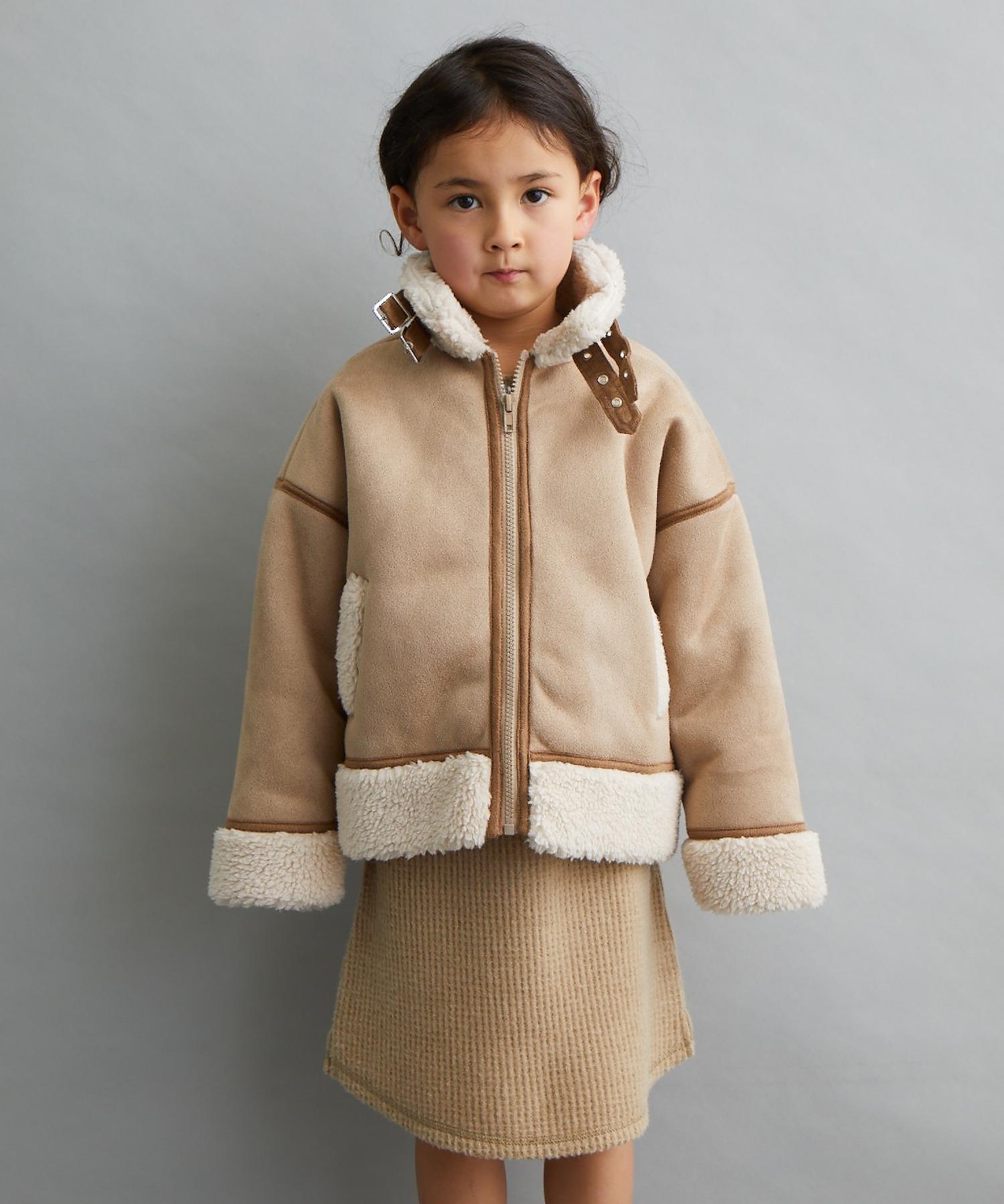 【&yam】あったかボア付きパイピングフライトジャケット