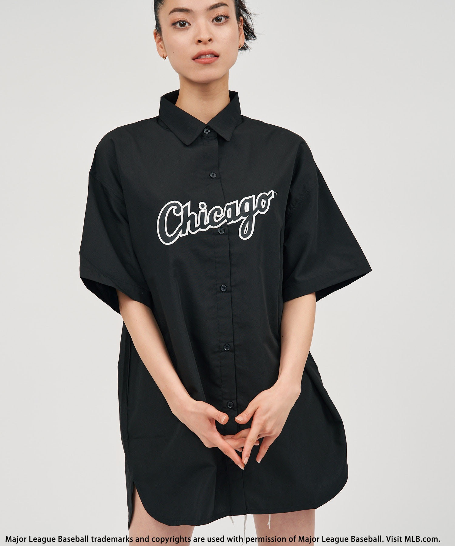 【MLB】BIGハーフスリーブシャツ