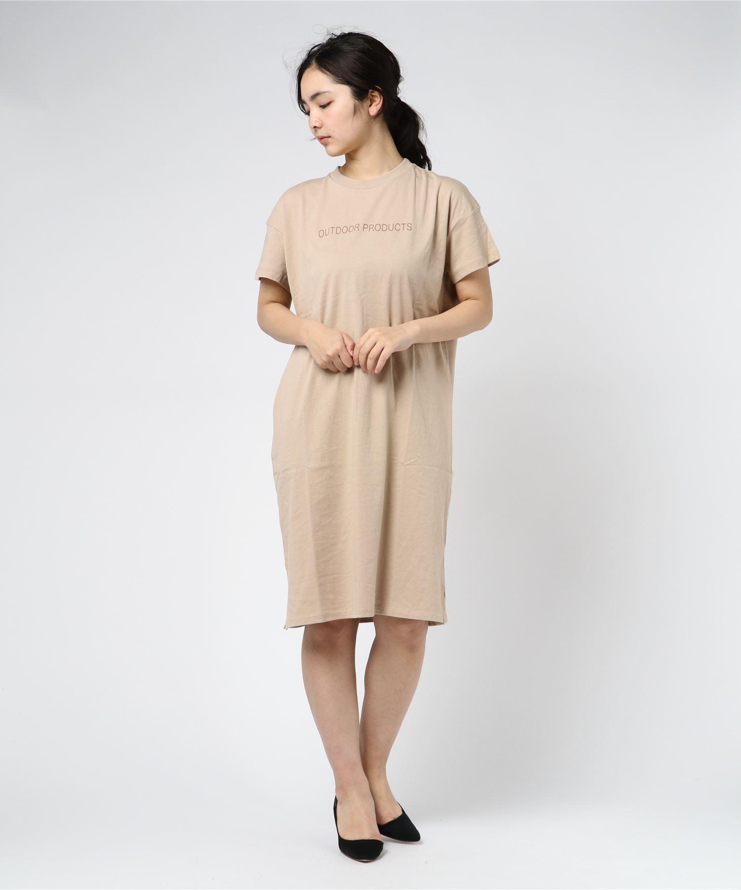 スモールロゴプリントワンピース/Tシャツ ワンピース