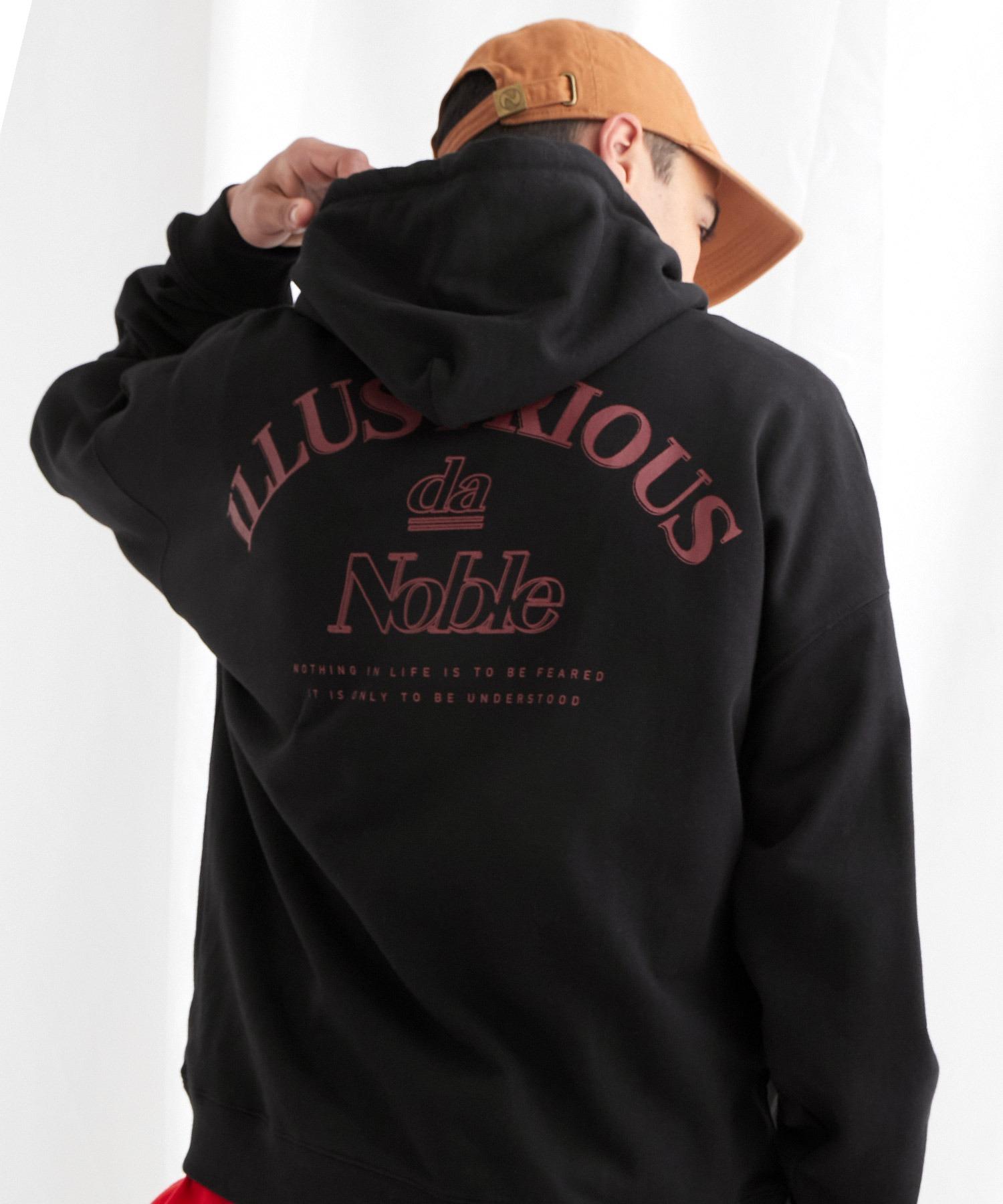 ビッグシルエット 裏毛 バックロゴデザインプルオーバーパーカー/ILLUSTRIOUS da Noble-2021SPRING(EMMA CLOTHES)