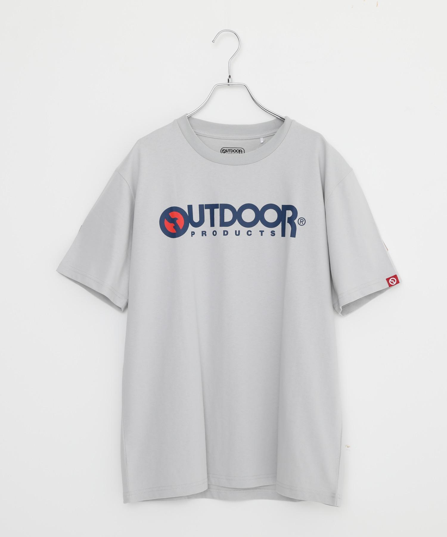 ひんやり接触冷感素材使用UVカット機能付きロゴプリントTシャツ