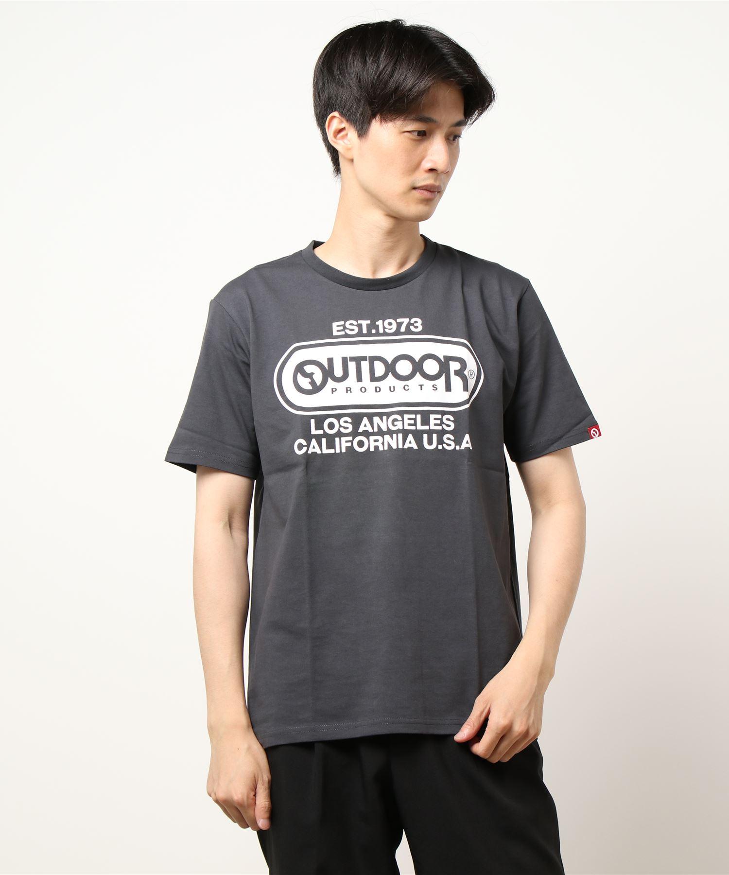 ひんやり接触冷感・UVカット素材使用オーバルロゴプリントTシャツ