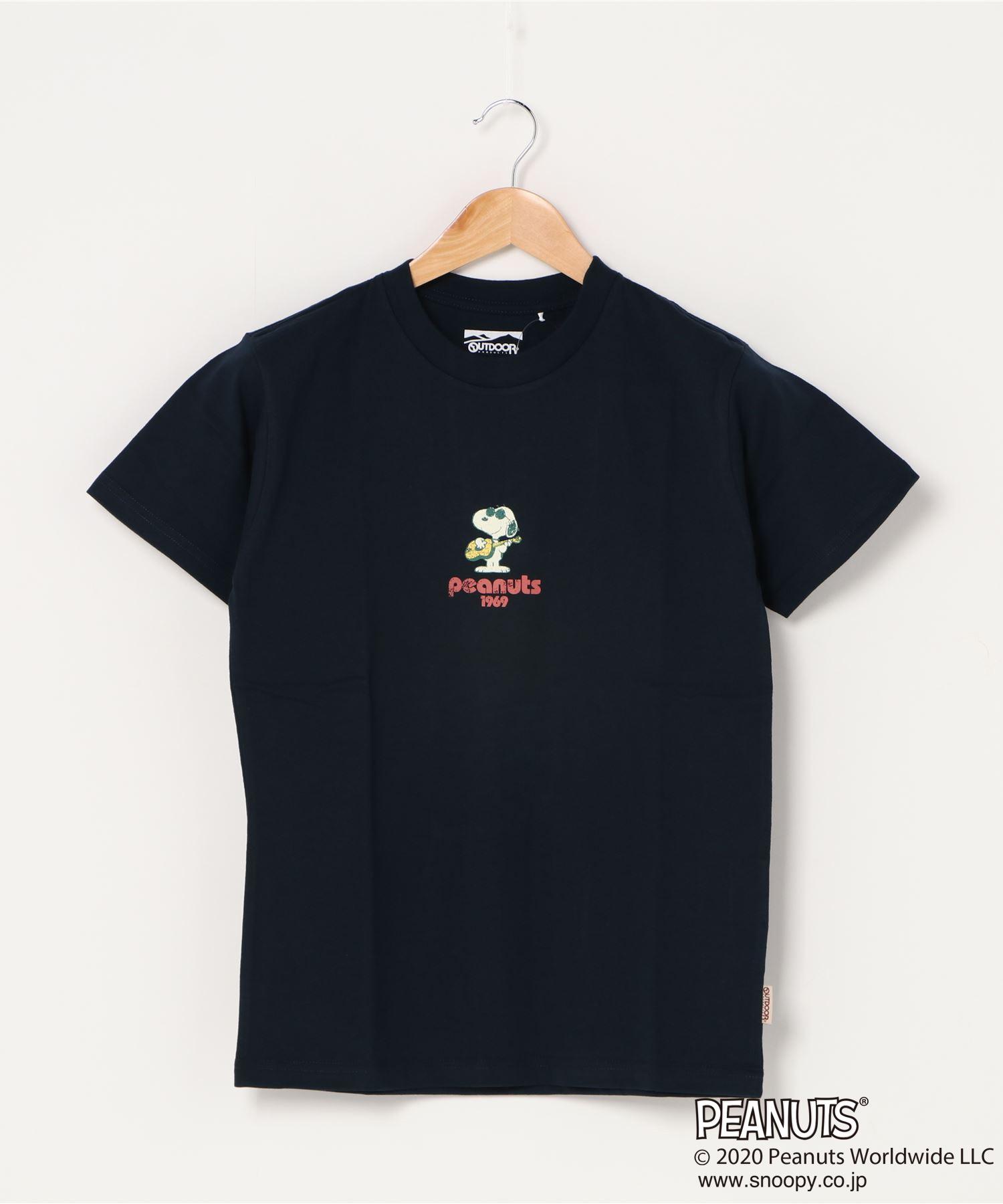 【PEANUTS/ピーナッツ】 スヌーピー ユニセックスデザイン リラクシングシルエット キャラクター半袖プリントTシャツ プレゼントにも最適アイテム!