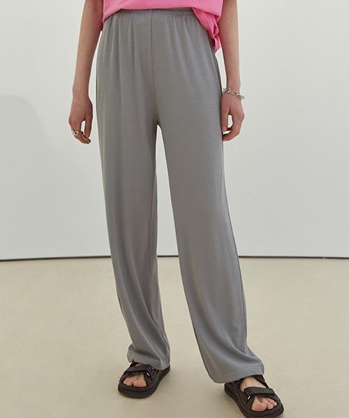 【Fano Studios】【2021SS】Straight silhouette rib jersey pants FC21K047
