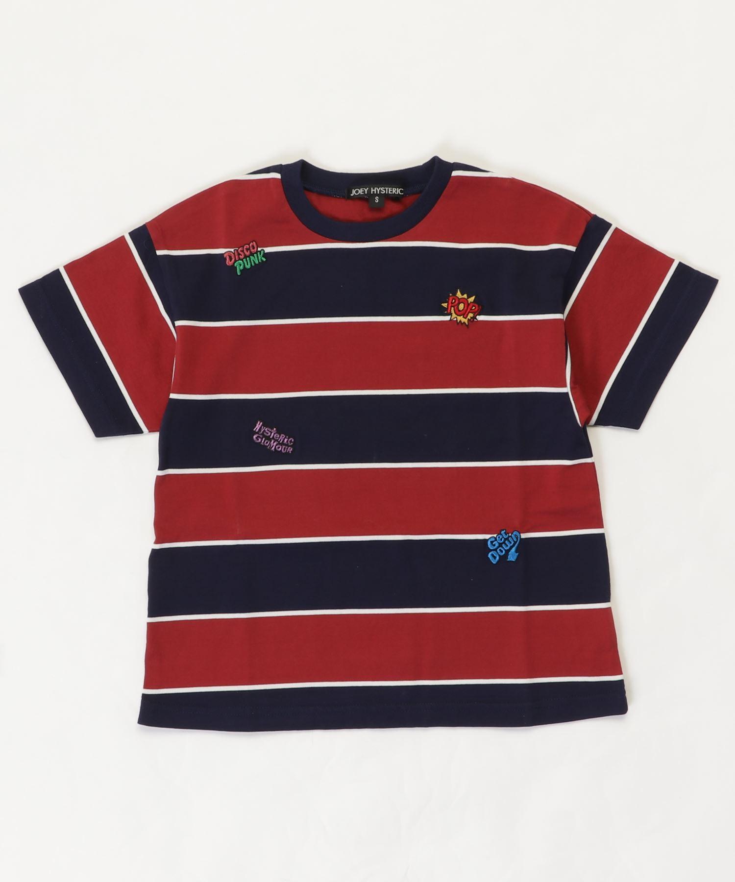 LOGO SCRATCH刺繍 ビッグTシャツ【S/M】