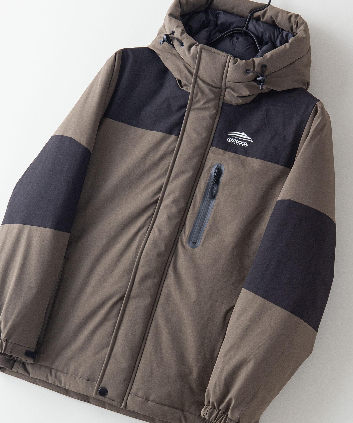 KIDS(キッズ)切替中綿フードジャケット 撥水防風ストレッチ耐水圧10000mm