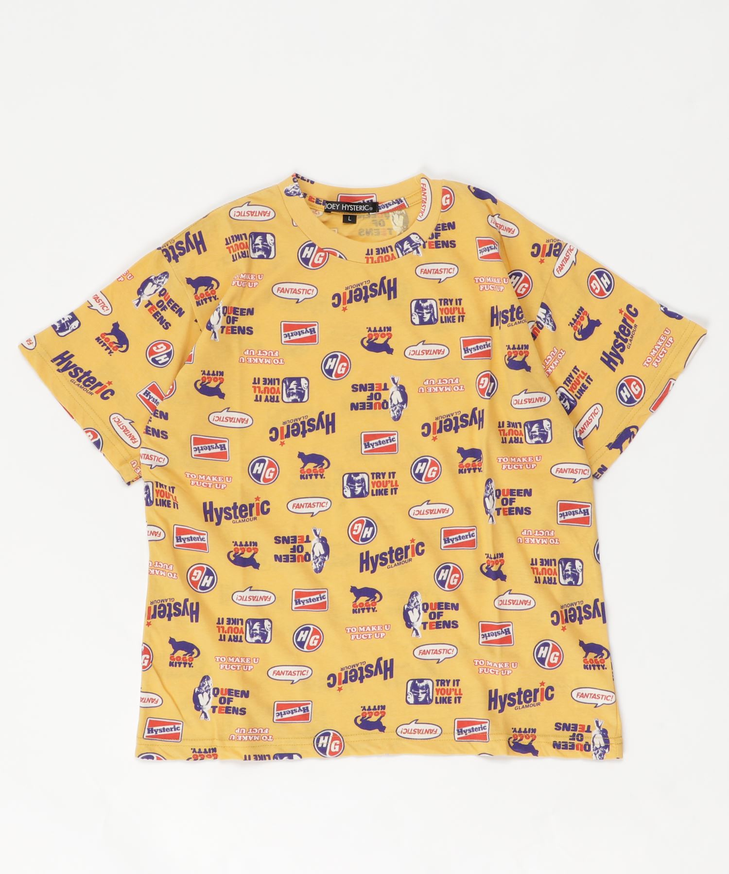 HYS FANTASTIC総柄 Tシャツ【L】