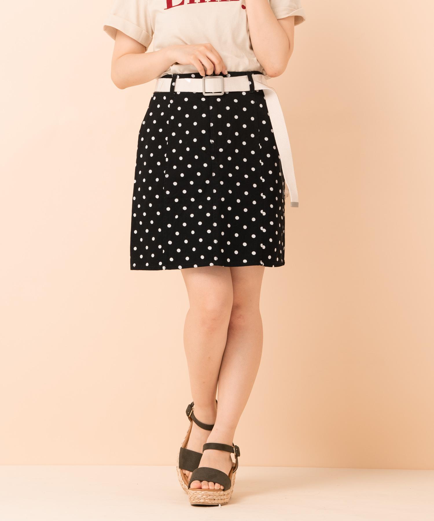 クリアベルト付台形スカート