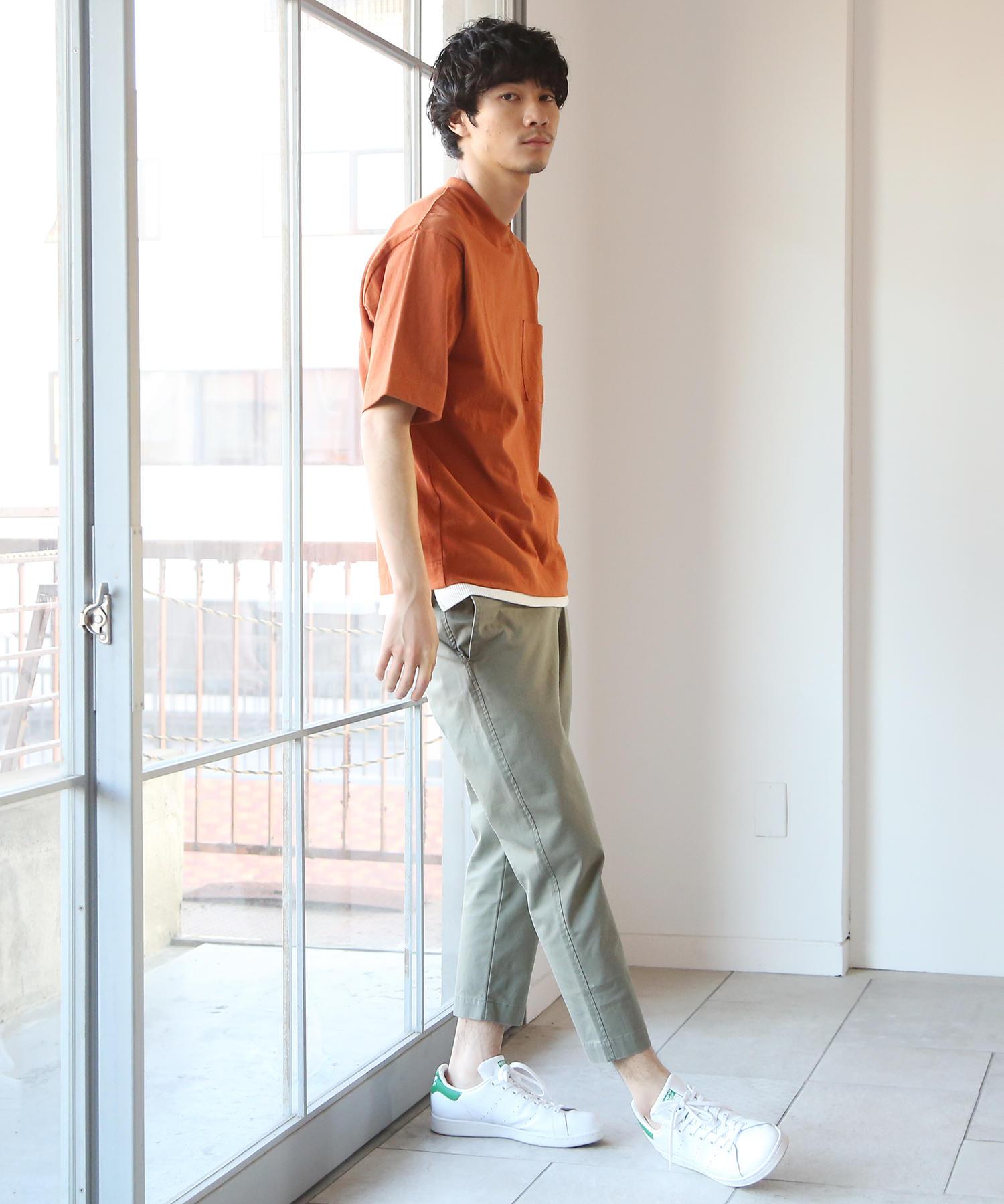 USAコットンビッグシルエットクルーネックTシャツ②_2