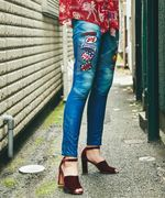CLASSIC PATCH BIKER DENIM pt スリムパンツ