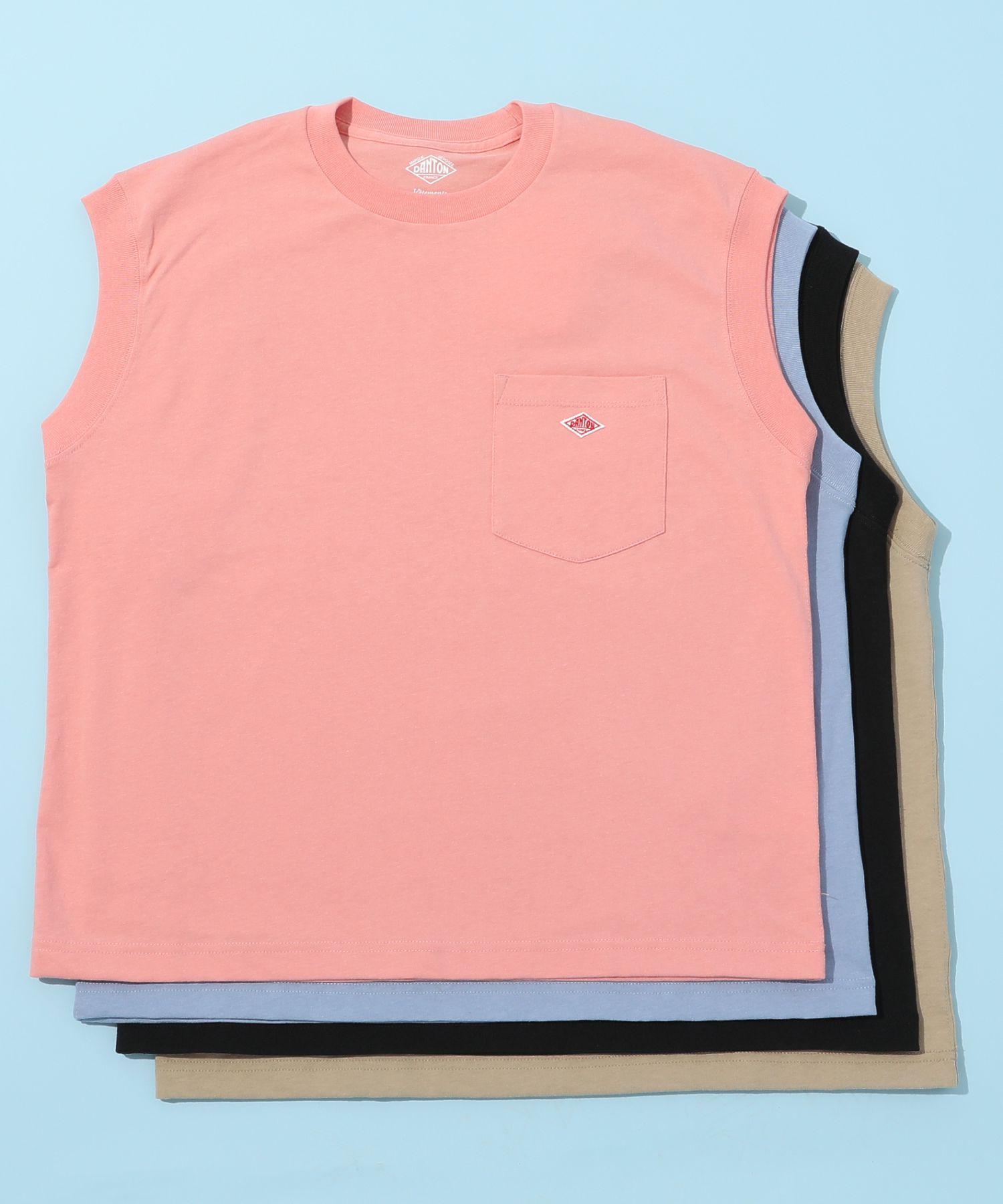 ダントン DANTON / ポケットTシャツ Pocket No-Sleeve