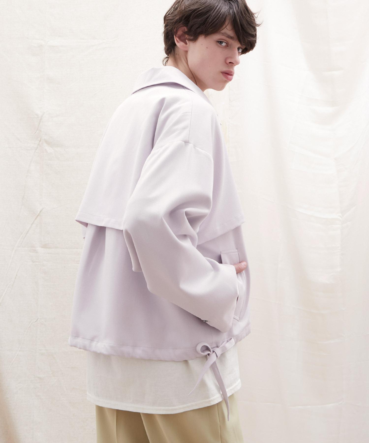 オーバーサイズ 袖ボリューム オーバーサイズ フライト コーチ ジャケット/CPOショート/ヨーク/ロングブルゾン EMMA CLOTHES 2021 S/S