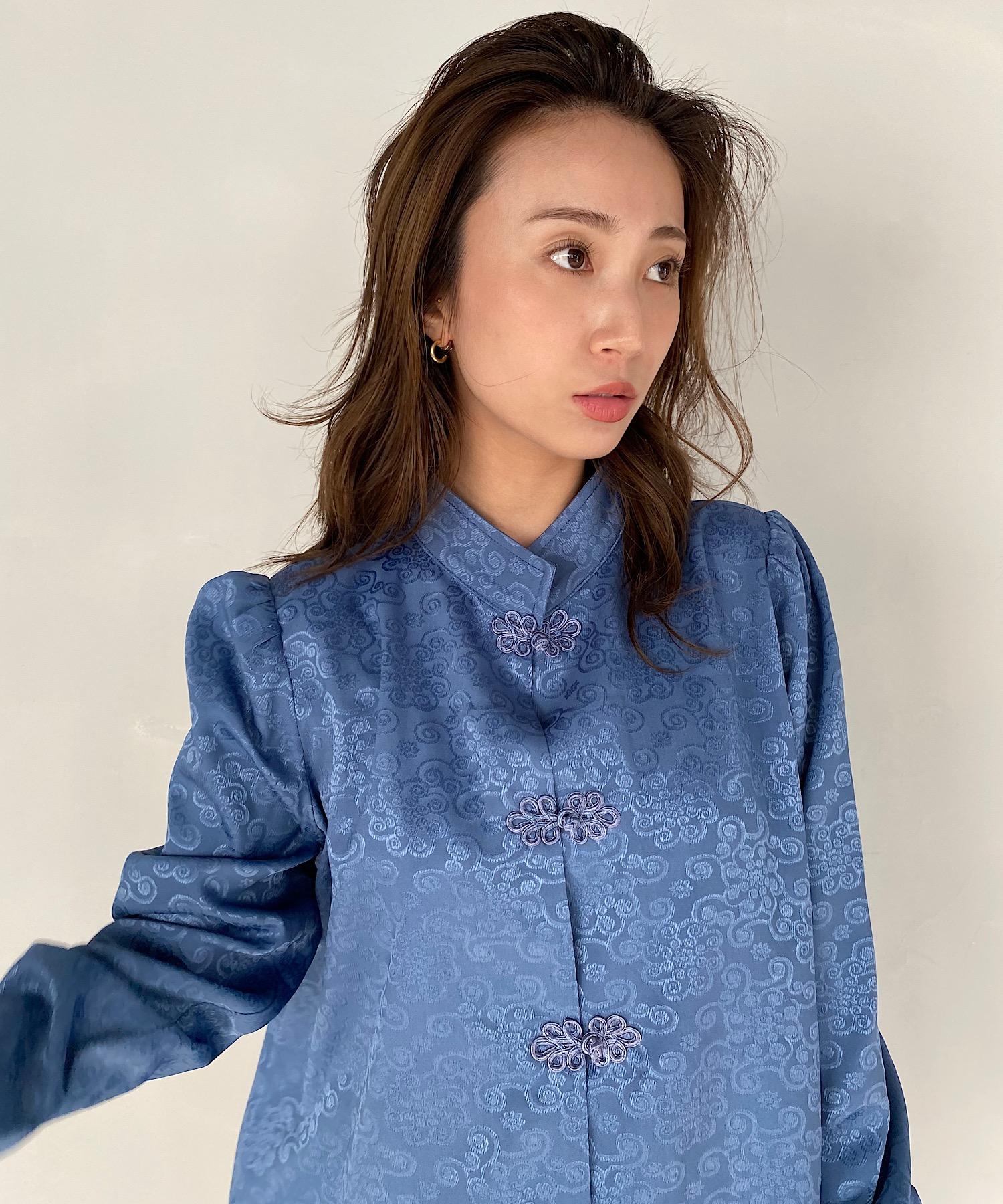 【SANSeLF】Se middle neck china shirt sanwt1