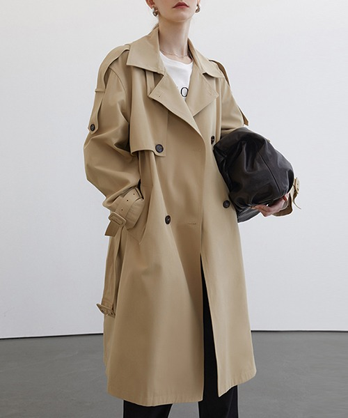 【Fano Studios】【2021SS】Double breasted wide trench coat cb-3 FC21W041
