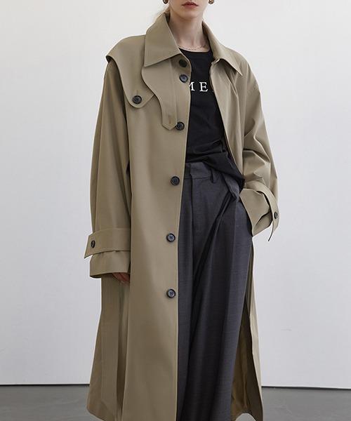 【Fano Studios】【2021SS】Single breasted wide trench coat cb-3 FC21W043