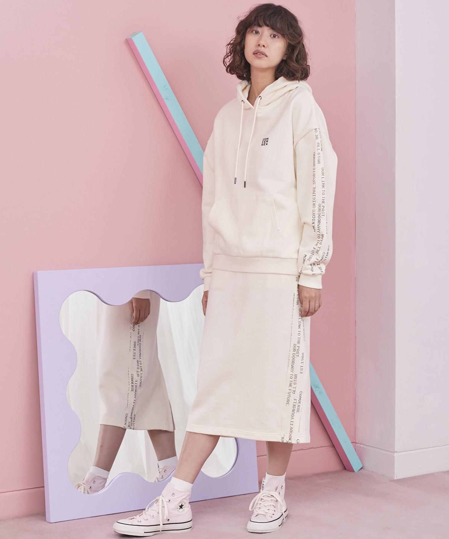 CONVERSE/コンバース サイドラインロゴデザインスカート