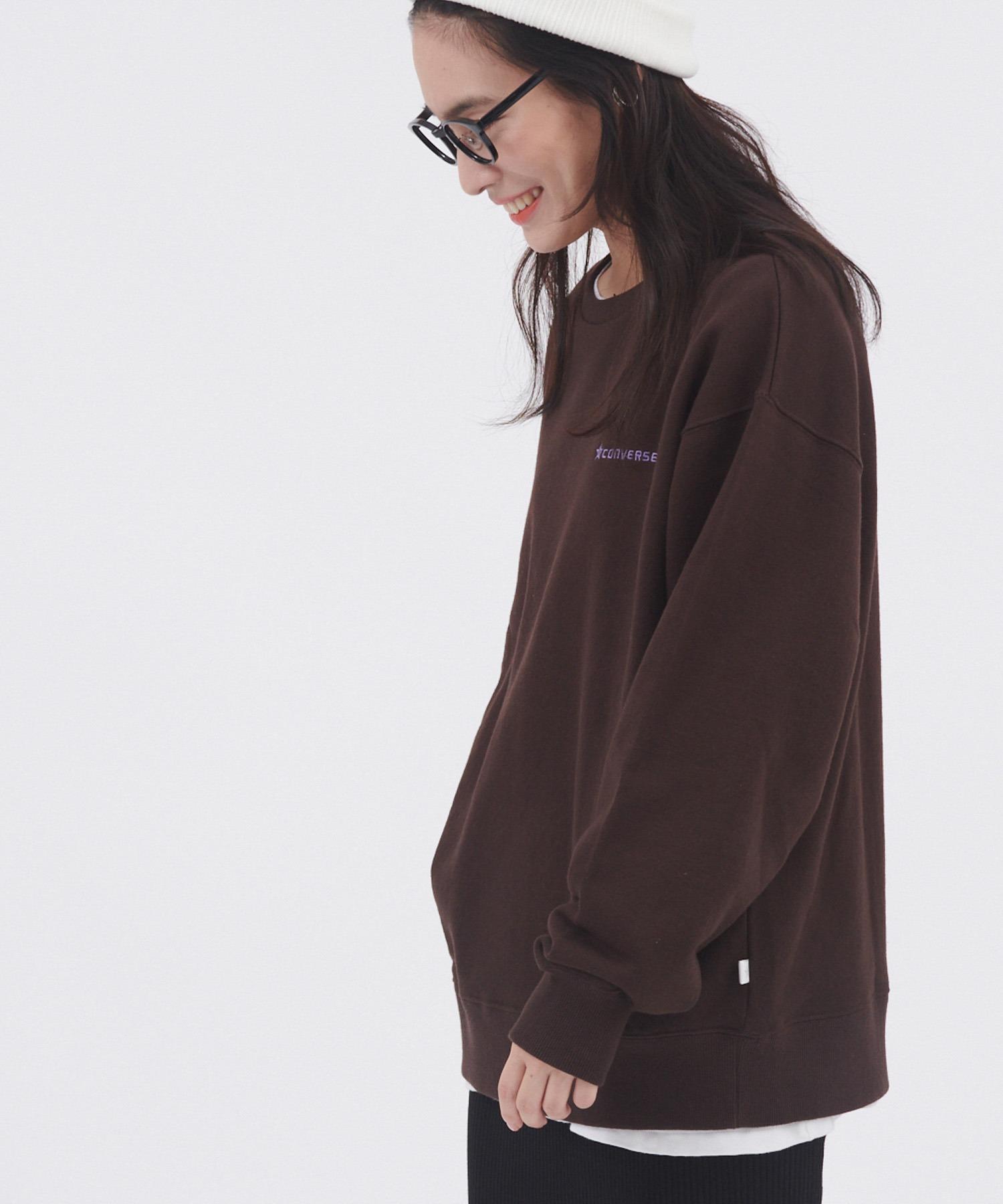 CONVERSE/コンバース 裏毛コーポレート刺繍ルーズスウェット