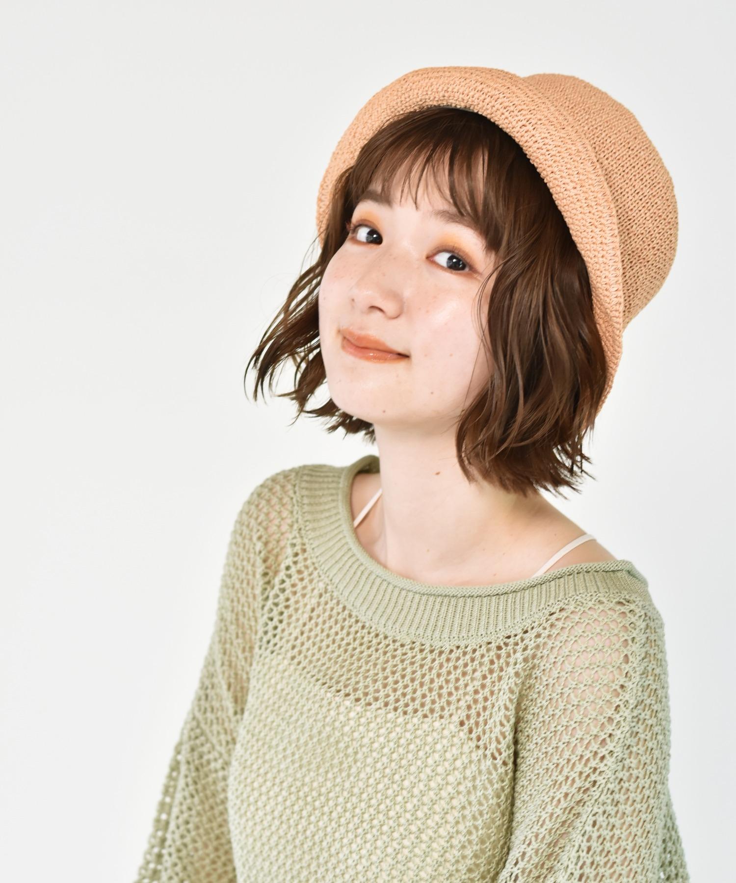 こま編みバケットハット