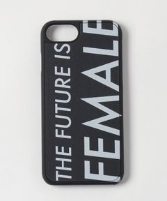"WOOD'D Real wood Snap-on cover for iPhone 7/8 ""FUTURE IS FEMALE"""