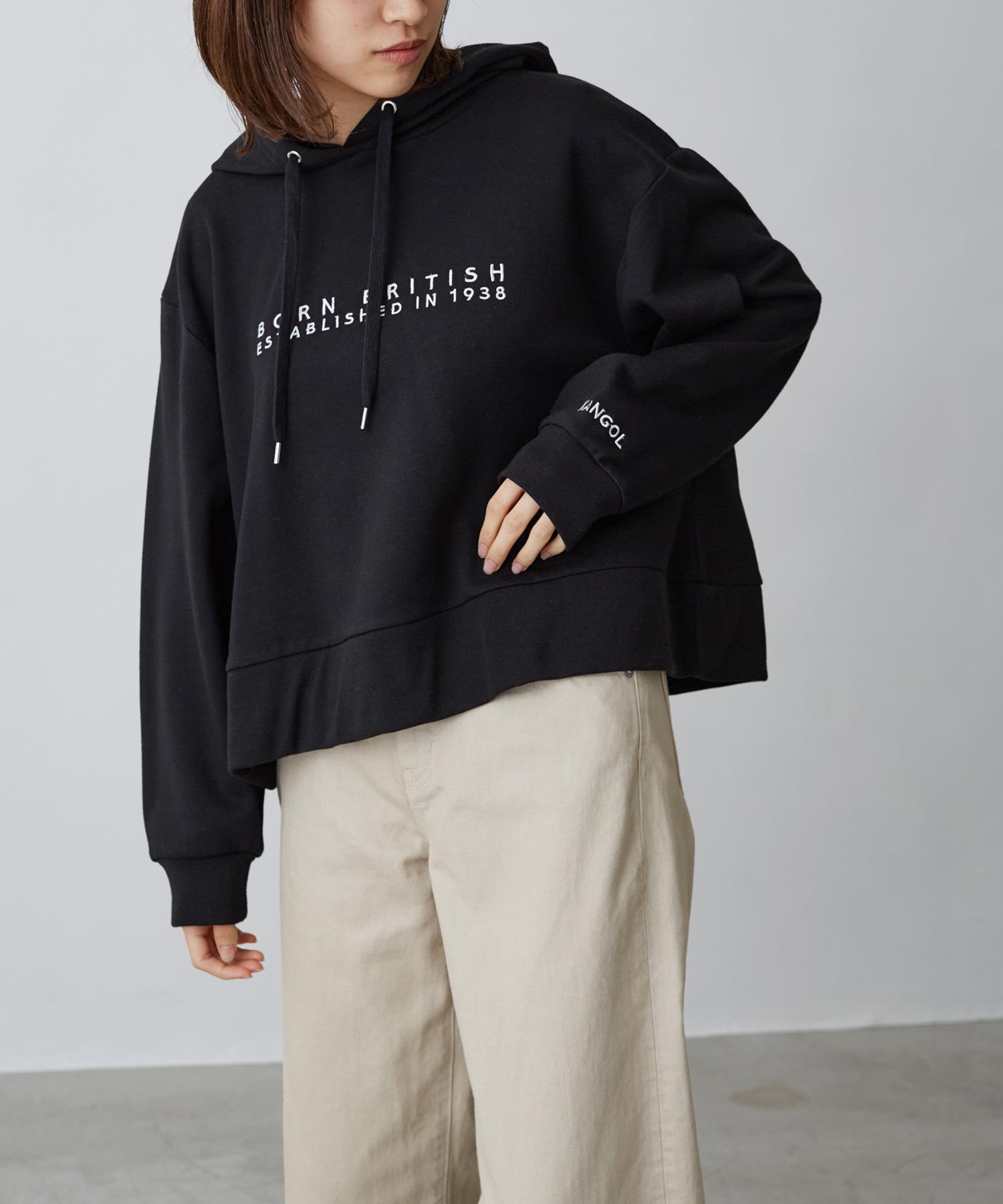 KANGOL/カンゴール Chaco closet別注 ロゴ刺繍 ワイドフードスウェットパーカー