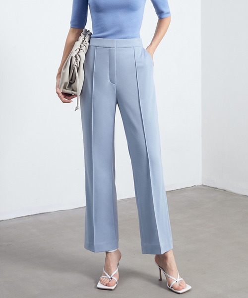 【chuclla】【2021/SS】Center crease slit pants sb-4 chw1470