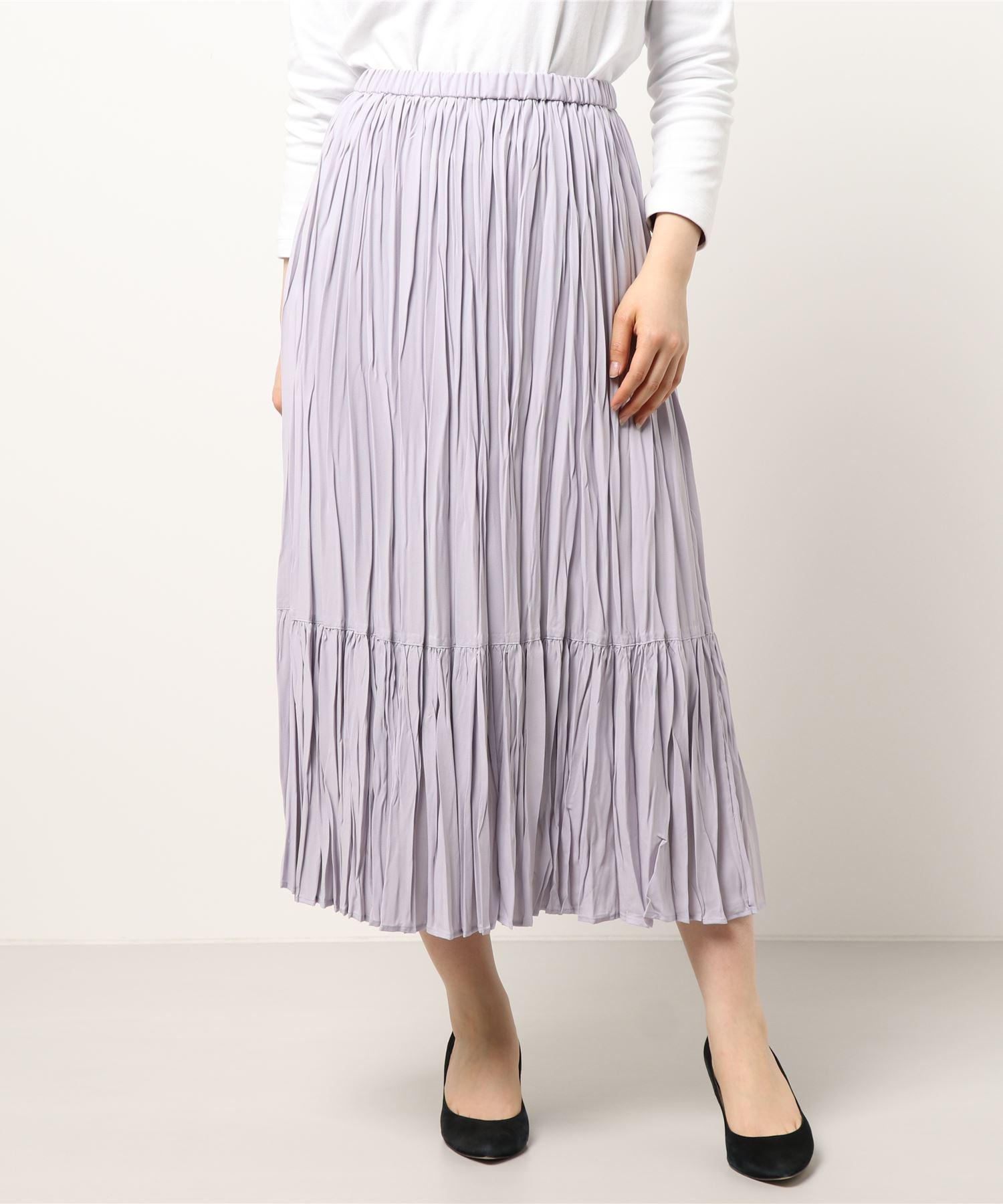 【THE CHIC】ジョーゼットティアードプリーツスカート