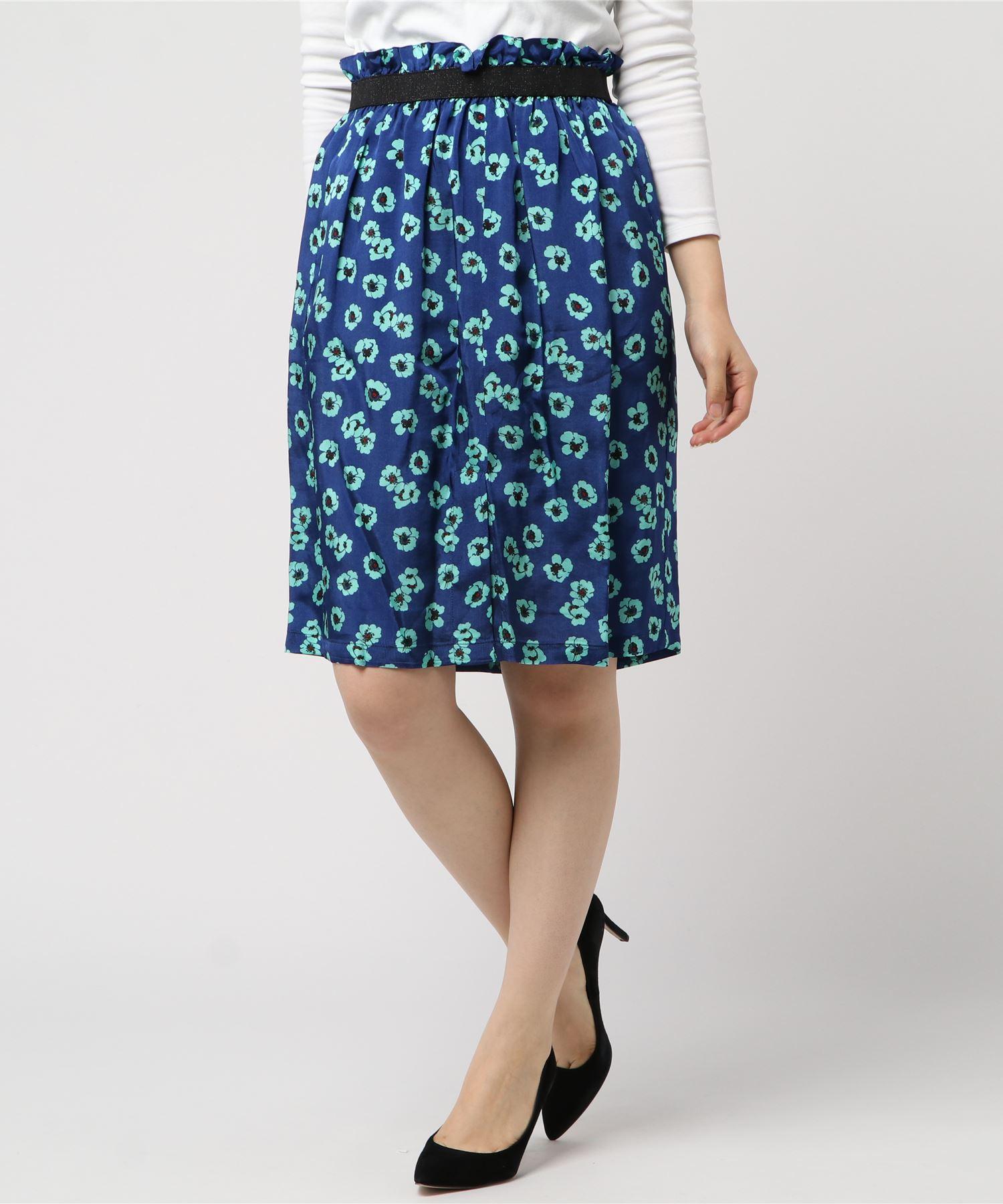 SUZiE WiNKLE スージウィンクル / CAMERIA プリントスカート