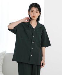 【WEB限定】FEELING MADE ストレッチ シアサッカーオープンカラーシャツ(ダブルポケット・開襟シャツ・ストレッチ)