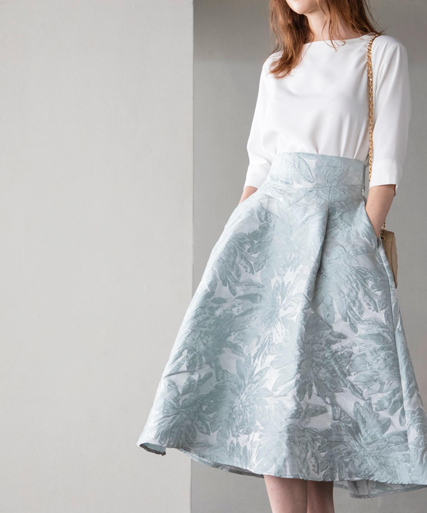 ジャガードボリュームスカート