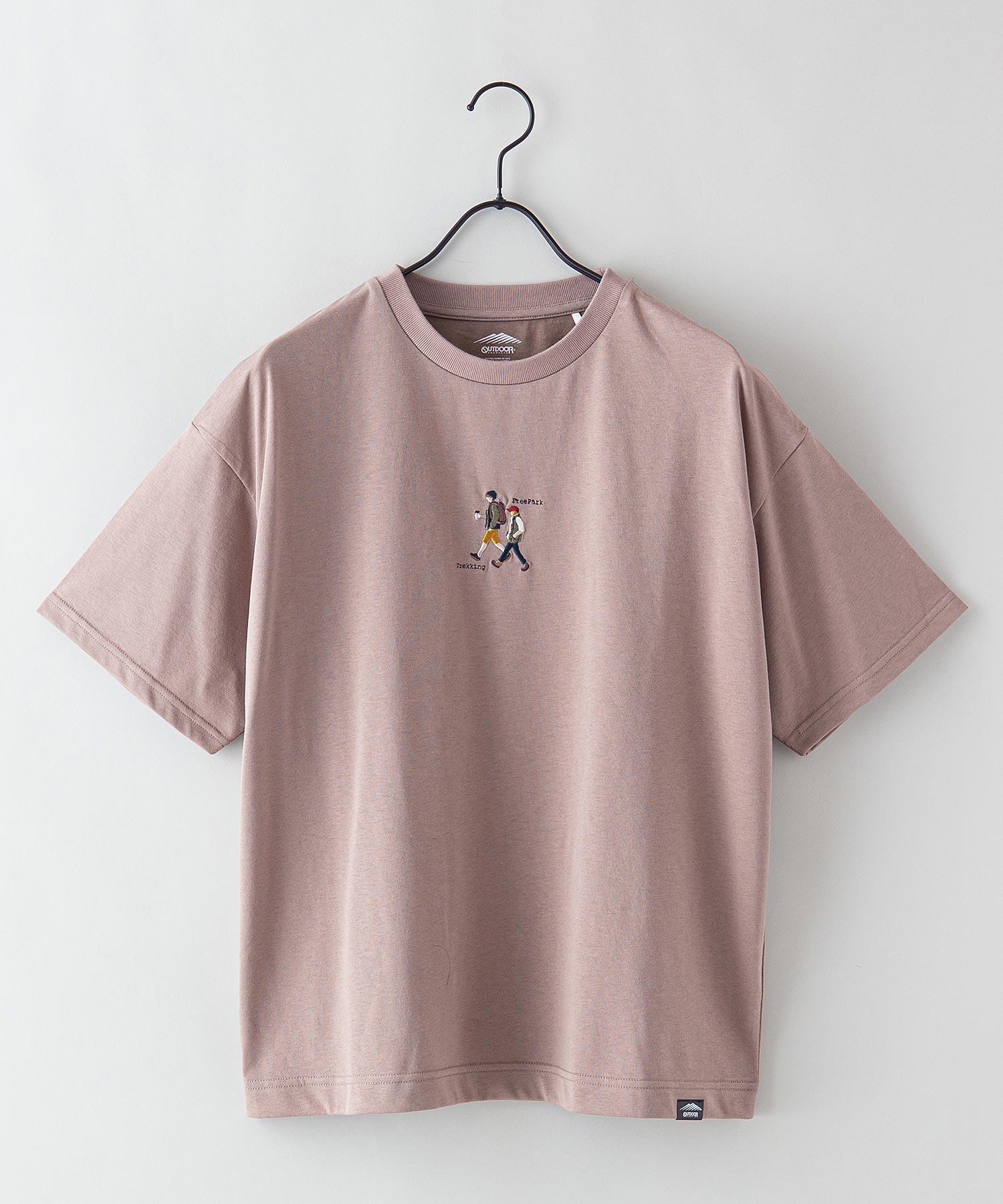 DRY(速乾機能)ビッグシルエット刺繍プリントTシャツ