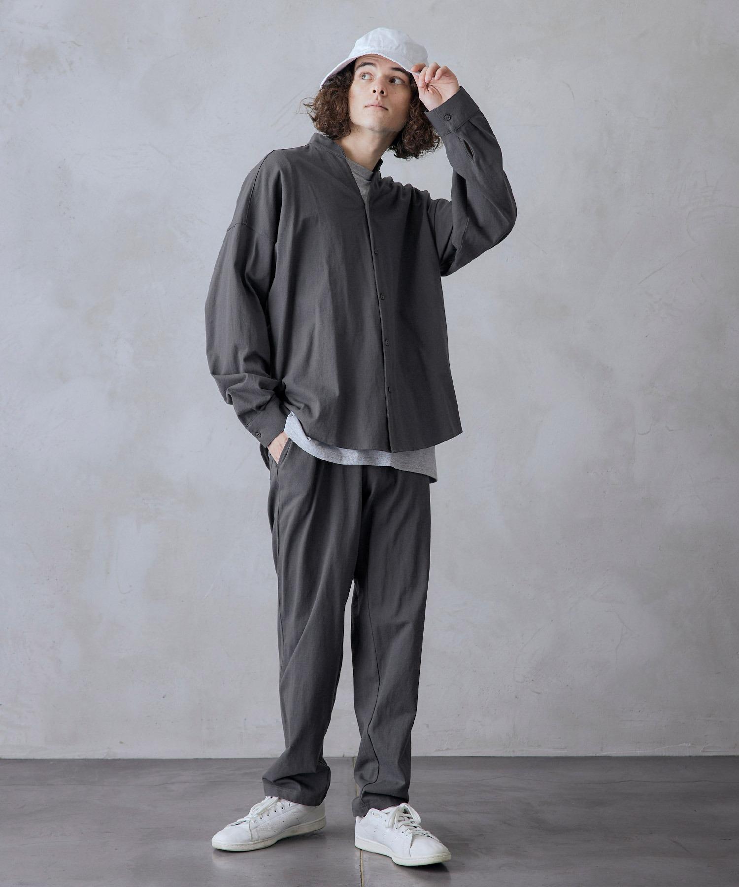 【セットアップ】USAコットン CPO オーバーサイズ レギュラーカラー/スキッパーバンドカラーシャツ&シェフパンツ