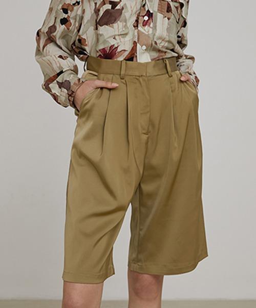 【UNSPOKEN】Two-tuck shorts UX20K002chw